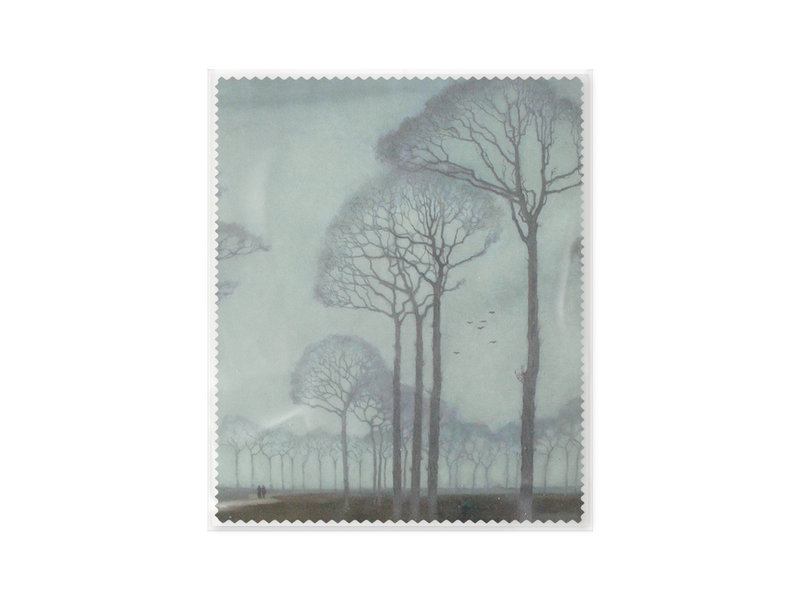 Chiffon à lunettes, 15 x 18 cm, Museum More, Rangée d'arbres, Mankes