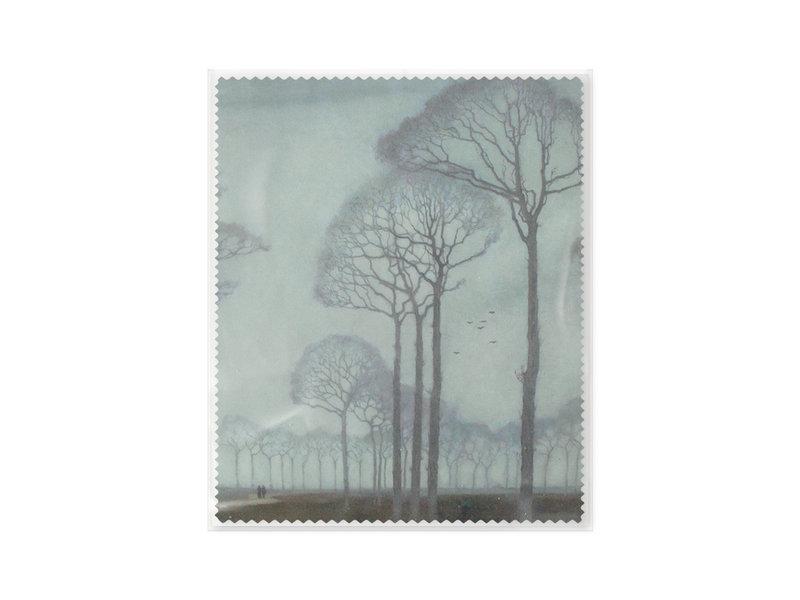 Paño de gafas, 15 x 18 cm, Museum More, Hilera de árboles, Mankes