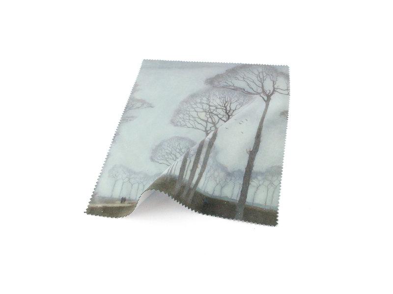 Lens cloth, 15 x 18 cm, Museum More, Row of trees, Mankes