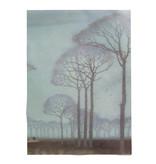 Affiche, 50x70, Jan Mankes, rangée d'arbres