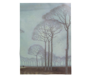 Poster, 50x70, Jan Mankes, Row of trees