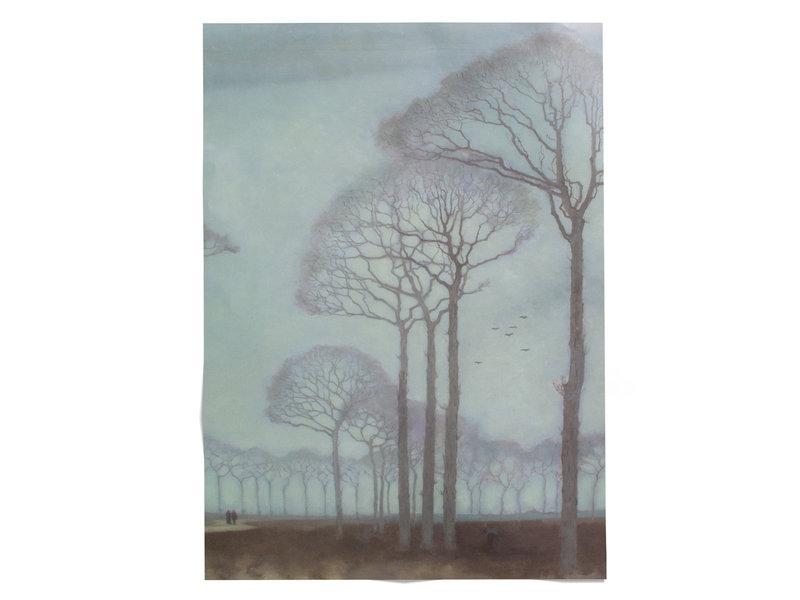 Plakat, 50x70, Jan Mankes, Baumreihe