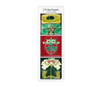 Magnets pour réfrigérateur, lot de 3, Art Nouveau 1