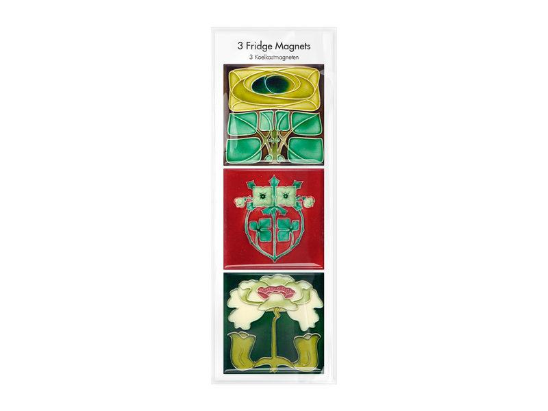 Fridge magnets, Set of 3, Art Nouveau 1