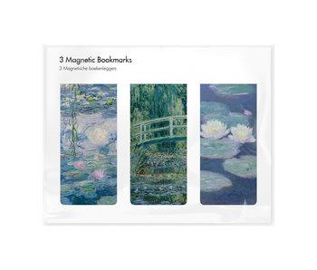 Juego de 3, marcapaginas magnético, Monet