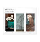 Lot de 3, signets magnétiques, Jan Mankes