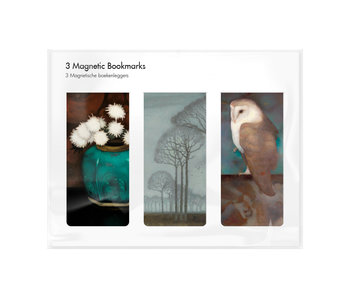 Set of 3, Magnetic bookmark, Jan Mankes
