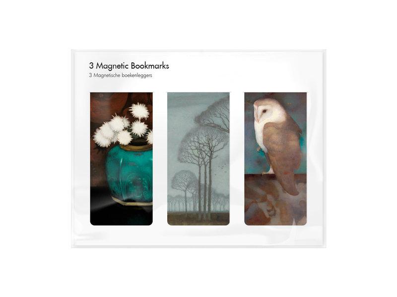 Set van 3, Magnetische boekenlegger , Jan Mankes