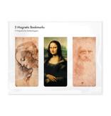 Juego de 3, marcapaginas magnético,Leonardo Da Vinci