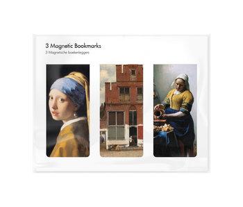 Lot de 3, signets magnétiques,  Vermeer