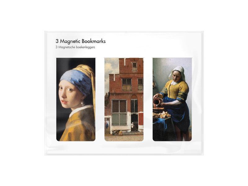 Juego de 3, marcapaginas magnético Johannes Vermeer