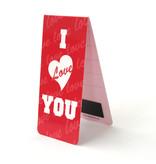 3er-Set, magnetisches Lesezeichen,  I Love you
