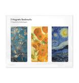 Juego de 3, marcapaginas magnético , Vincent van Gogh