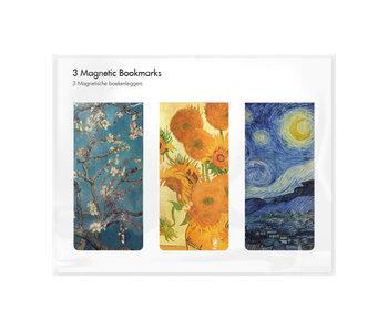 Juego de 3, marcapaginas magnético, Vincent van Gogh