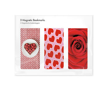 Set of 3, Magnetic bookmark,  I Love you 2