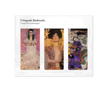 Juego de 3, marcapaginas magnético,  Klimt