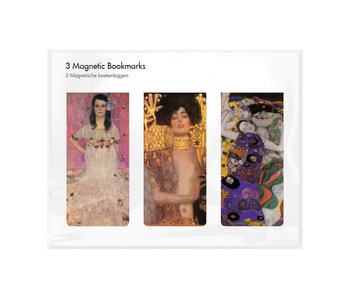 Set of 3, Magnetic bookmark,  Klimt