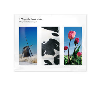 Set of 3, Magnetic bookmark,  Holland