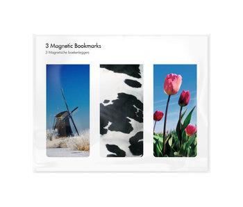 Set van 3, Magnetische boekenleggers , Holland