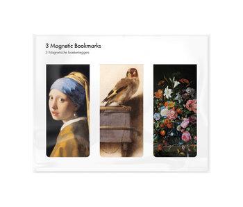 Lot de 3, signets magnétiques,  Mauritshuis