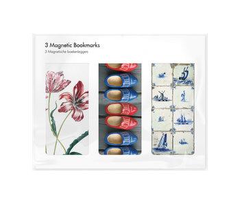 Set van 3, Magnetische boekenleggers , Holland 2