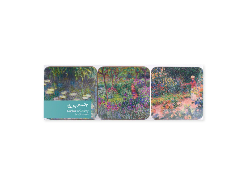 Onderzetters, set van 6, De tuin van Monet in Giverny