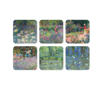 Coasters, set of 6, Monet's garden in Giverny