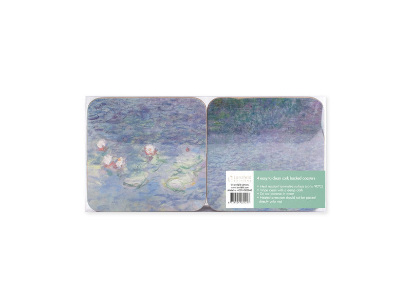 Coasters, set of 4, Pond with water lilies, Monet