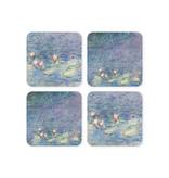 Untersetzer, 4er-Set, Teich mit Seerosen, Monet