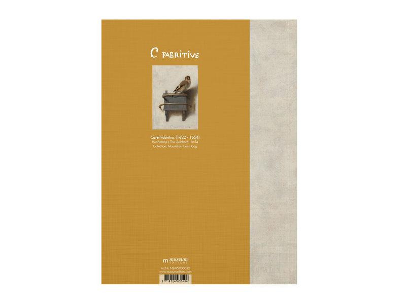 Softcover kunst schetsboek, Carel Fabritius, Het Puttertje
