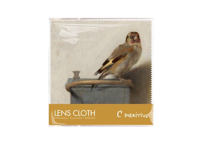 Lens cloth, 15 x 15 cm, Goldfinch, Carel Fabritius