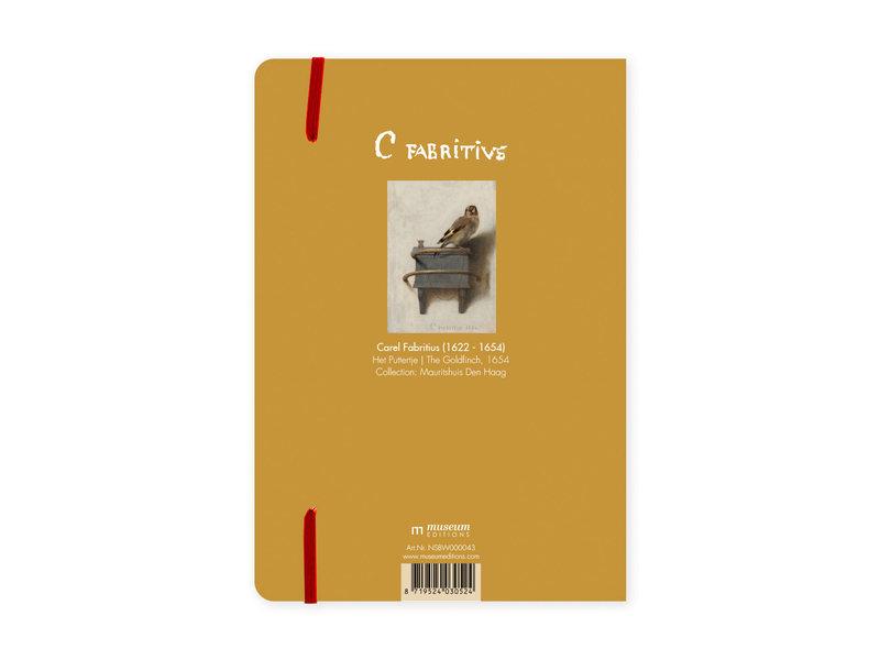 Carnet à couverture souple, A5,  Le Chardonneret, Carel Fabritius