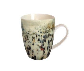 Mug, Avercamp, winter landscape