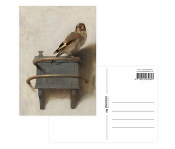 Carte postale,Carel Fabritius, Le Chardonneret