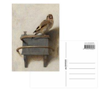Postkarte, Carel Fabritius, Der Stieglitz