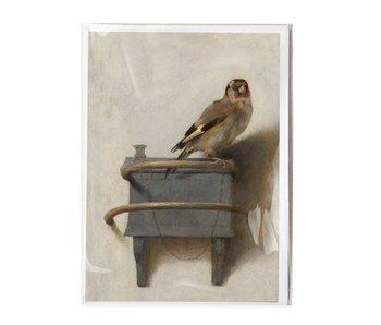 Doble tarjeta,  Carel Fabritius,  El jilguero