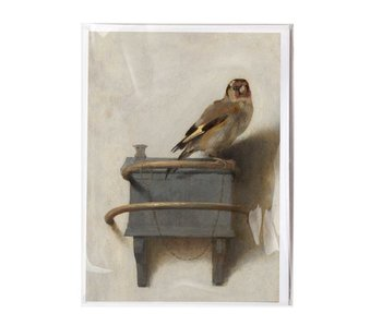Double card with envelope , Carel Fabritius, Goldfinch