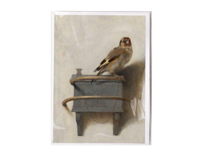 Doppelkarte mit Umschlag, Carel Fabritius, Der Stieglitz