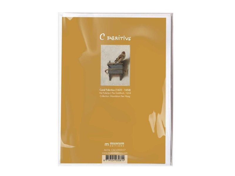 Double carte avec enveloppe,Carel Fabritius, Le Chardonneret