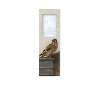 Marque-page avec loupe,  Carel Fabritius, Le Chardonneret