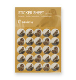 Stickersheet, Goldfinch, Carel Fabritius