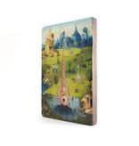 Meister auf Holz,  J.Bosch, Garten der irdischen Freuden,  300 x  195 mm
