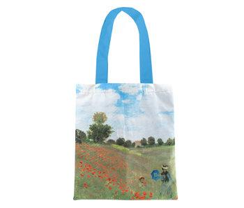 Katoenen tas Luxe, Monet, Veld met klaprozen