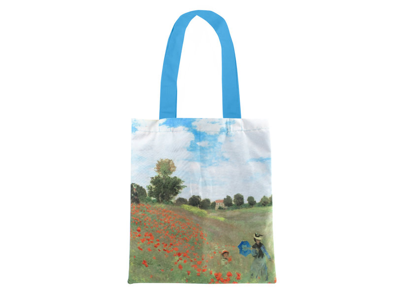Cotton Tote Bag Luxe, Monet, Field with poppies