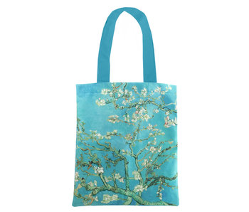 Cotton Tote Bag Luxe, Van Gogh, Almond Blossom