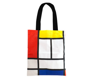 Cotton Tote Bag Luxe, Mondriaan, Composition