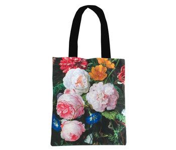 Bolsa de algodón Luxe, De Heem, bodegón de flores