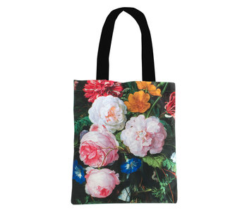 Cotton Tote Bag Luxe, De Heem, Flower still life