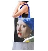 Bolsa de algodón Luxe, Vermeer, Niña de la perla