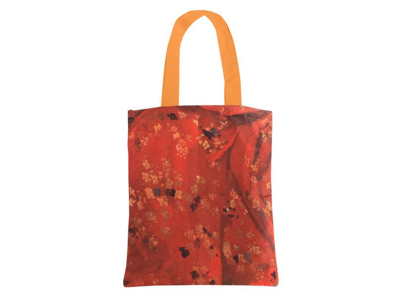 Katoenen tas Luxe, Breitner, Meisje in rode kimono